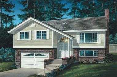 3-Bedroom, 1197 Sq Ft Small House Plans - 167-1066 - Main Exterior