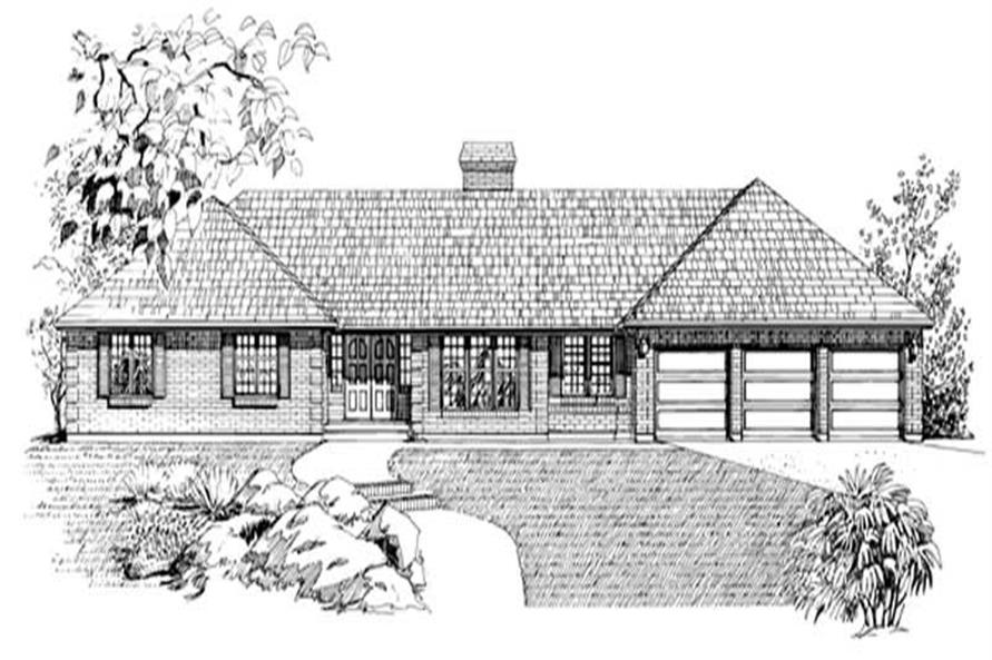 3-Bedroom, 2559 Sq Ft Ranch House Plan - 167-1074 - Front Exterior