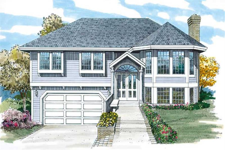 3-Bedroom, 1299 Sq Ft Small House Plans - 167-1075 - Front Exterior