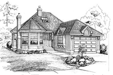3-Bedroom, 1592 Sq Ft Ranch House Plan - 167-1077 - Front Exterior