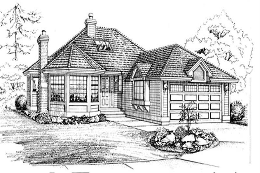 Main image for house plan # 7094