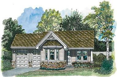 1-Bedroom, 794 Sq Ft Transitional House Plan - 167-1083 - Front Exterior