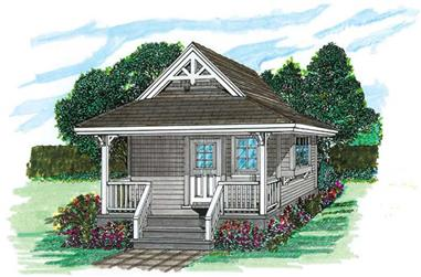 0-Bedroom, 144 Sq Ft Vacation Homes House Plan - 167-1084 - Front Exterior