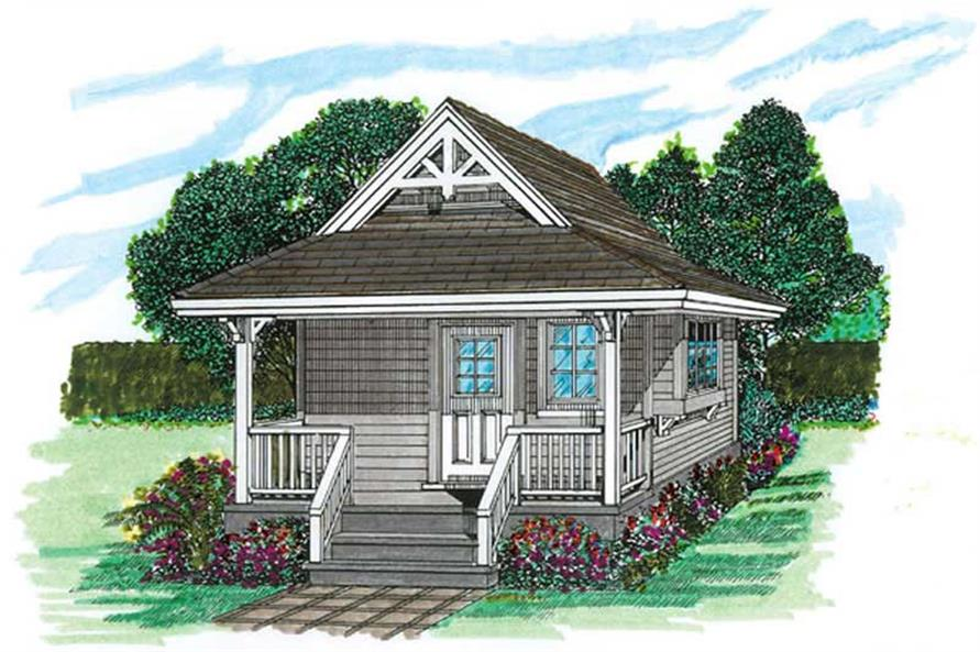 1-Bedroom, 144 Sq Ft Vacation Homes House Plan - 167-1084 - Front Exterior