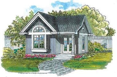1-Bedroom, 288 Sq Ft Craftsman House Plan - 167-1085 - Front Exterior