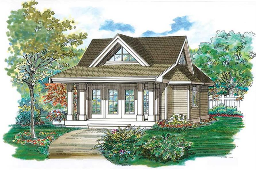 Studio - 432 Sq Ft Craftsman She Shed Plan - 167-1087 - Front Exterior