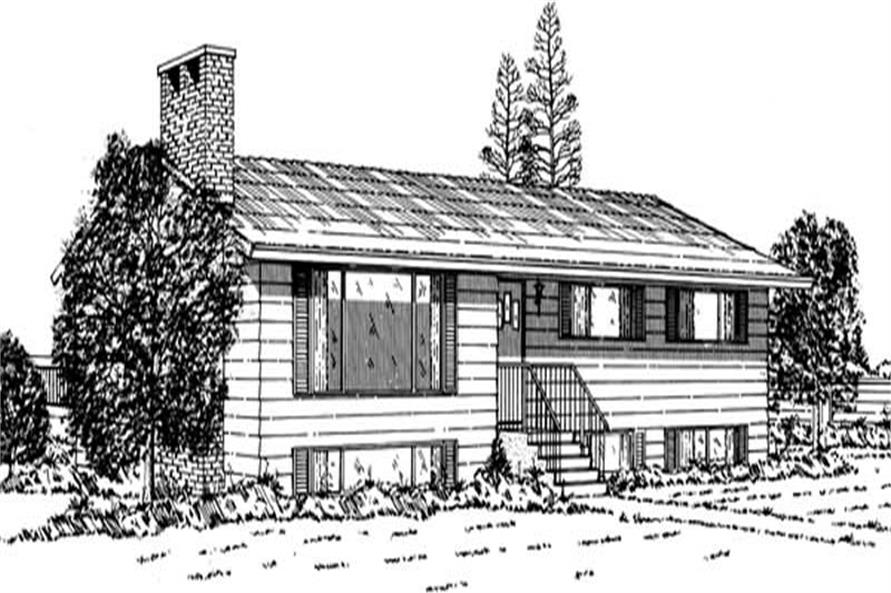 3-Bedroom, 1389 Sq Ft Ranch Home Plan - 167-1089 - Main Exterior