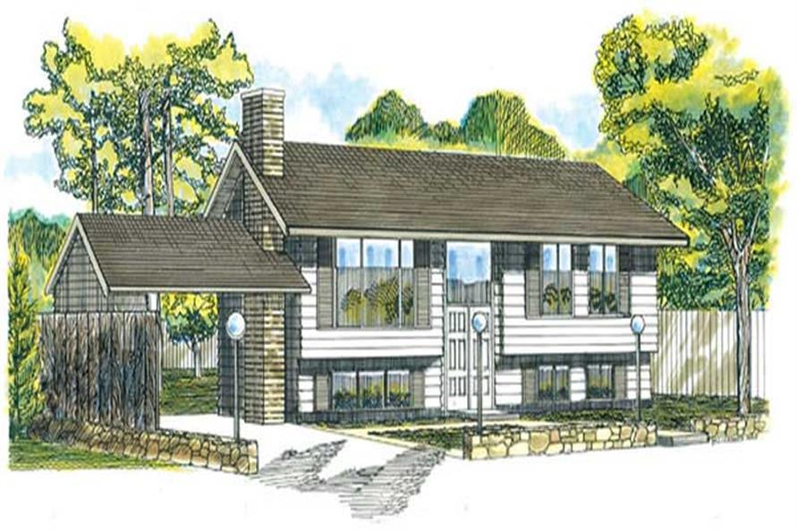 3-Bedroom, 1033 Sq Ft Small House Plans - 167-1091 - Front Exterior