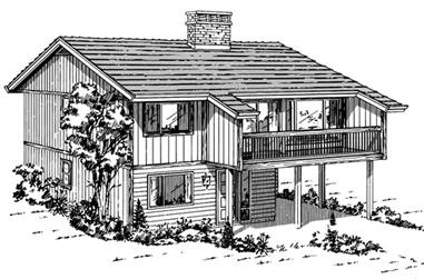 3-Bedroom, 1176 Sq Ft Contemporary House Plan - 167-1092 - Front Exterior