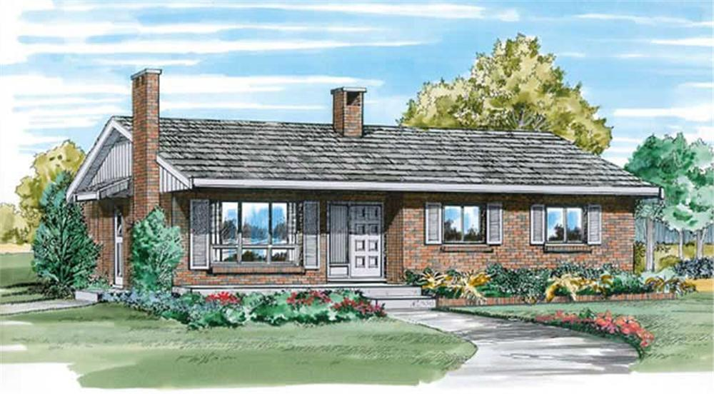 Main image for house plan # 7042