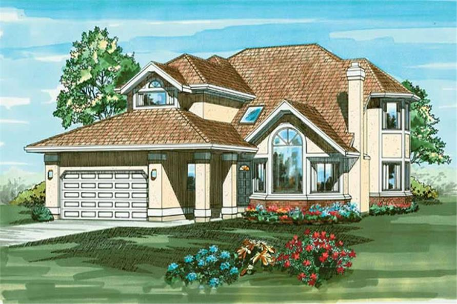 4-Bedroom, 3154 Sq Ft Contemporary House Plan - 167-1098 - Front Exterior
