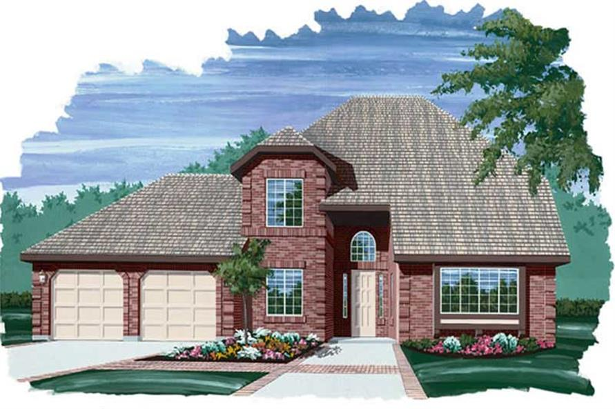3-Bedroom, 2049 Sq Ft Contemporary House Plan - 167-1100 - Front Exterior