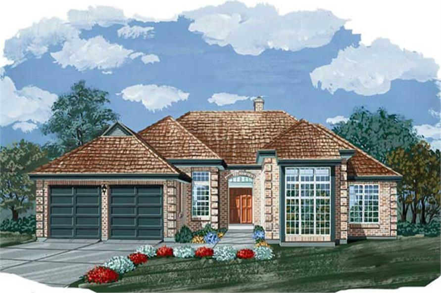 3-Bedroom, 2295 Sq Ft European House Plan - 167-1102 - Front Exterior