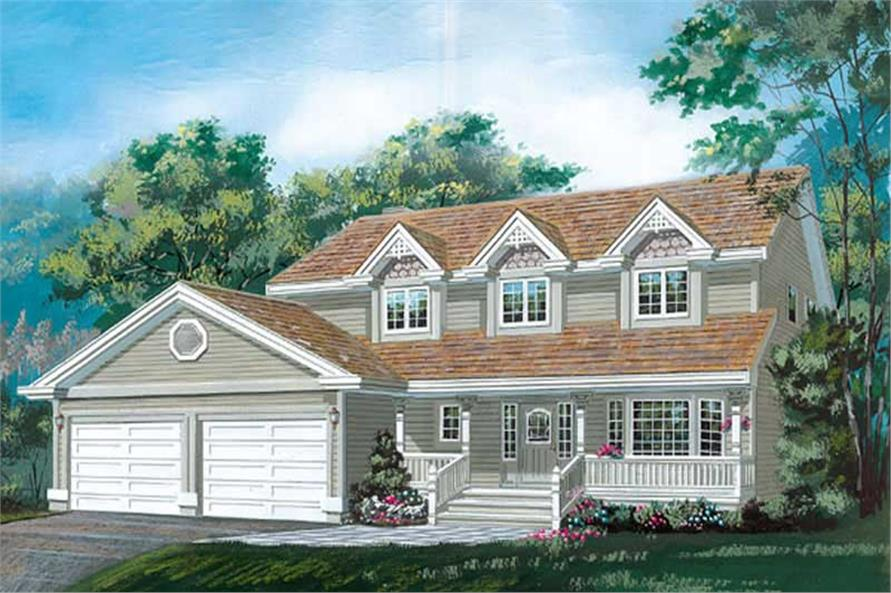 4-Bedroom, 1938 Sq Ft Country House Plan - 167-1107 - Front Exterior