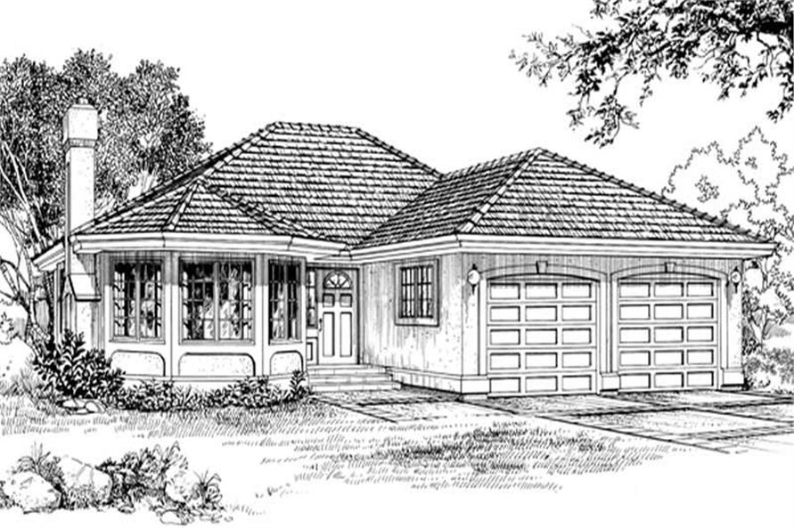 3-Bedroom, 1869 Sq Ft Ranch House Plan - 167-1111 - Front Exterior
