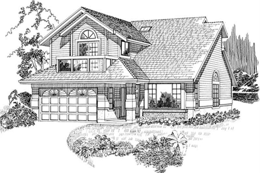 3-Bedroom, 2046 Sq Ft Traditional House Plan - 167-1112 - Front Exterior