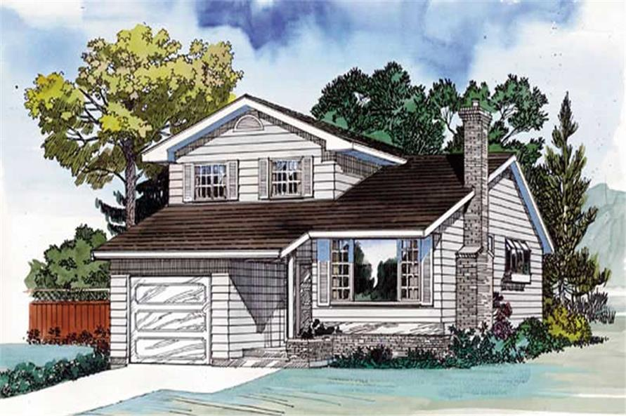 3-Bedroom, 1581 Sq Ft Small House Plans - 167-1115 - Main Exterior