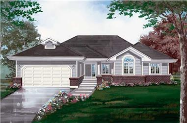 3-Bedroom, 1757 Sq Ft Ranch House Plan - 167-1117 - Front Exterior