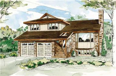 3-Bedroom, 1700 Sq Ft Contemporary House Plan - 167-1120 - Front Exterior