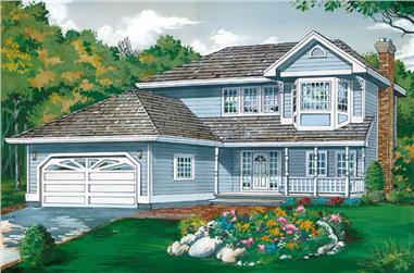 3-Bedroom, 1869 Sq Ft Country House Plan - 167-1122 - Front Exterior