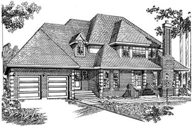 4-Bedroom, 3415 Sq Ft European House Plan - 167-1123 - Front Exterior