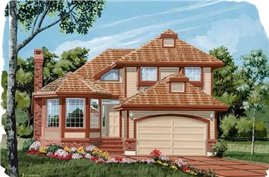 3-Bedroom, 1841 Sq Ft Contemporary House Plan - 167-1125 - Front Exterior