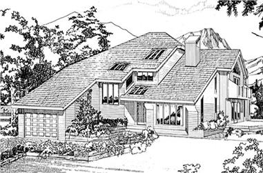 3-Bedroom, 4096 Sq Ft Contemporary House Plan - 167-1126 - Front Exterior