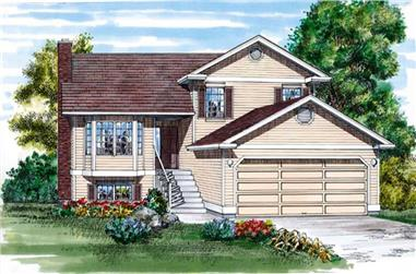 3-Bedroom, 1511 Sq Ft Small House Plans - 167-1127 - Main Exterior