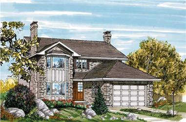 3-Bedroom, 2125 Sq Ft Contemporary House Plan - 167-1128 - Front Exterior