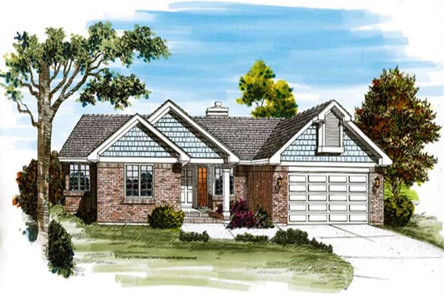 3-Bedroom, 1843 Sq Ft Ranch Home Plan - 167-1129 - Main Exterior