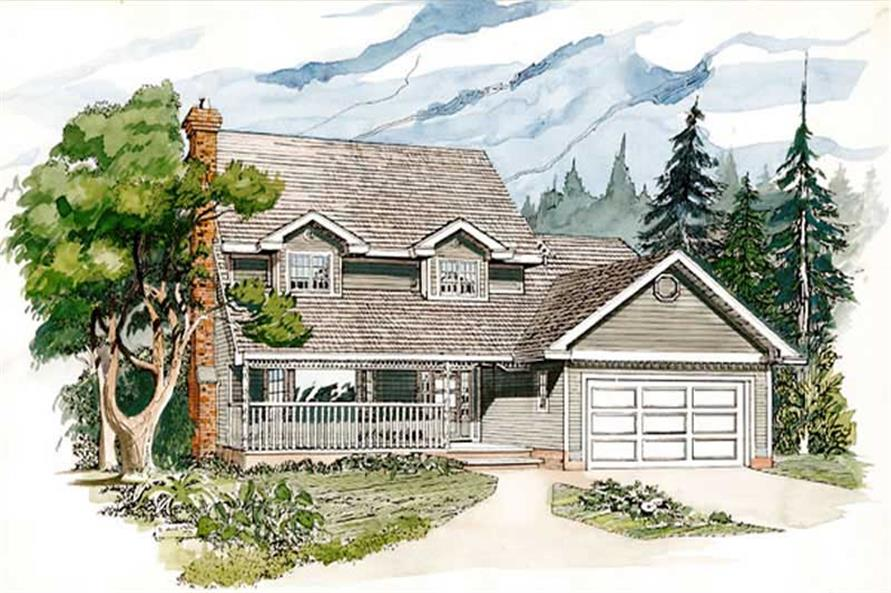 Main image for house plan # 7047