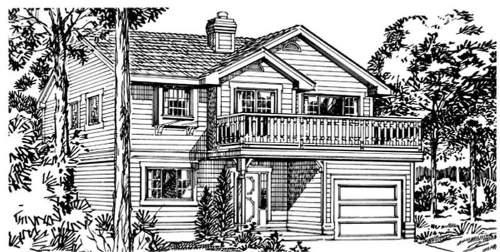 Main image for house plan # 7051