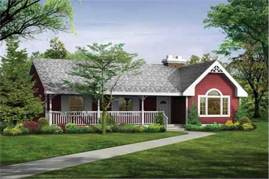 3-Bedroom, 1475 Sq Ft Country Home Plan - 167-1133 - Main Exterior