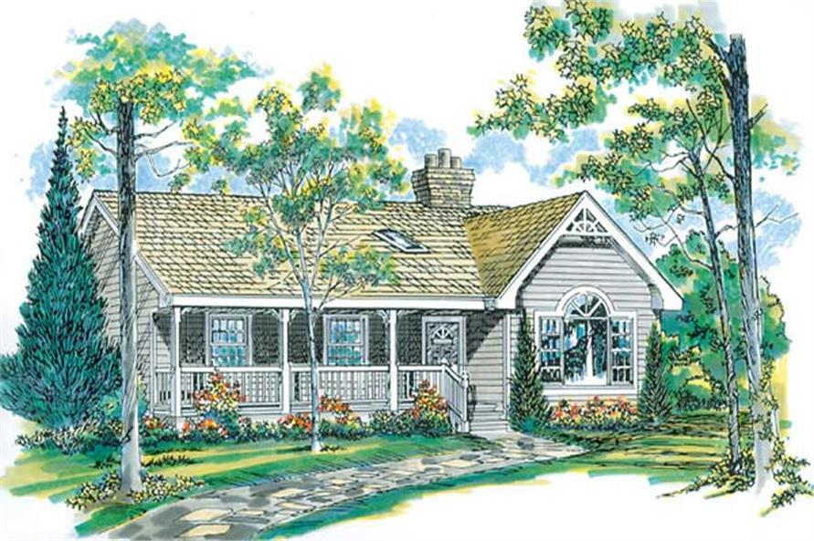 Home Plan Front Elevation of this 3-Bedroom,1475 Sq Ft Plan -167-1133
