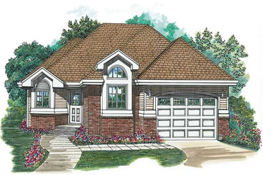 2-Bedroom, 1475 Sq Ft Ranch House Plan - 167-1136 - Front Exterior