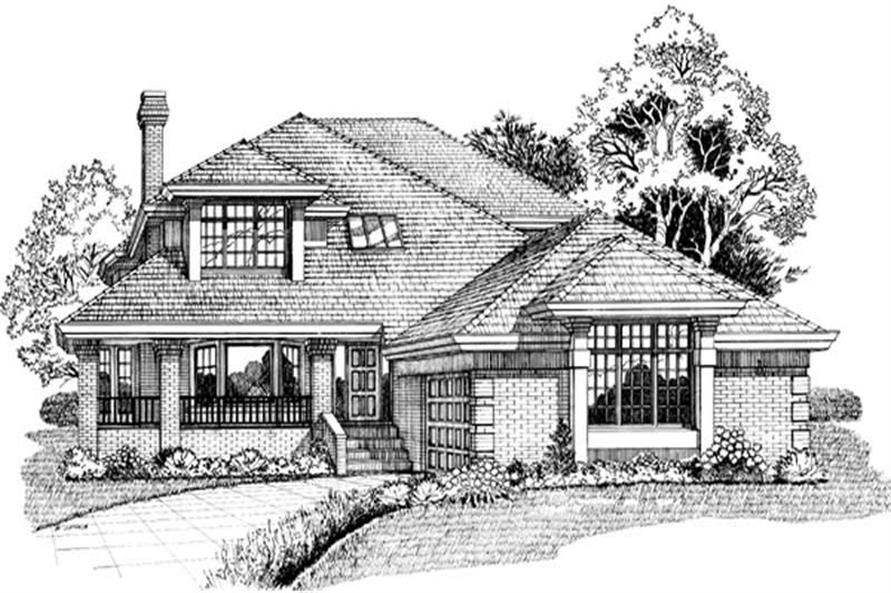 4-Bedroom, 3058 Sq Ft Contemporary House Plan - 167-1137 - Front Exterior