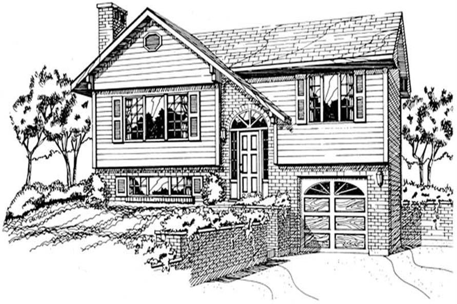 3-Bedroom, 924 Sq Ft Small House Plans - 167-1141 - Main Exterior