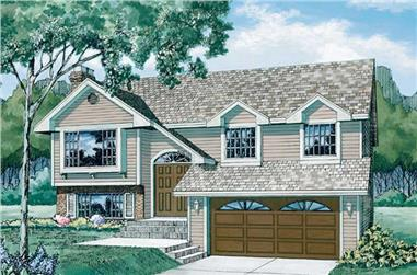 3-Bedroom, 1100 Sq Ft Small House Plans - 167-1142 - Main Exterior