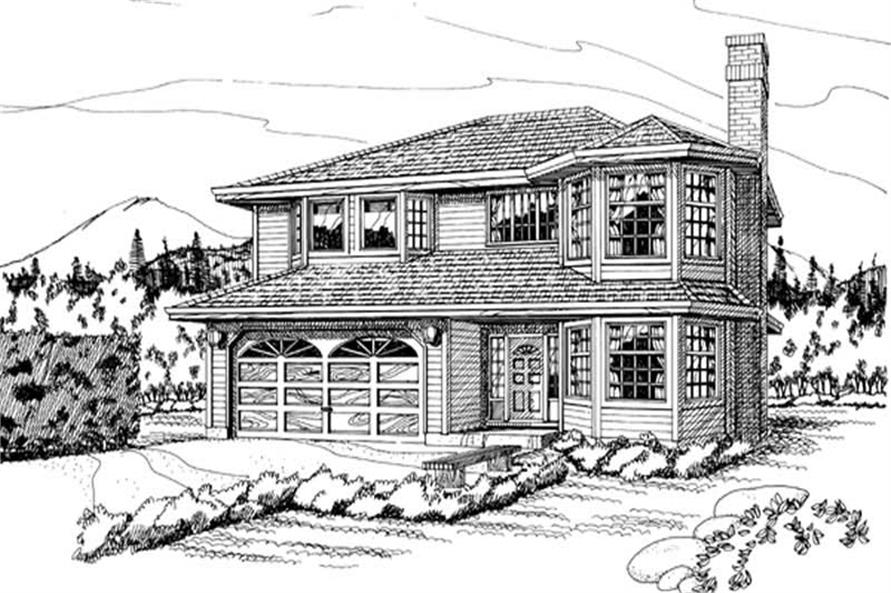 Main image for house plan # 7074
