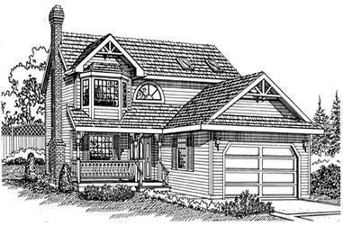 3-Bedroom, 1820 Sq Ft Country Home Plan - 167-1149 - Main Exterior