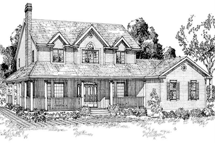 4-Bedroom, 2530 Sq Ft Country Home Plan - 167-1153 - Main Exterior