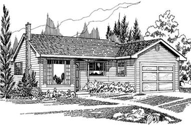 3-Bedroom, 1388 Sq Ft Small House Plans - 167-1154 - Front Exterior