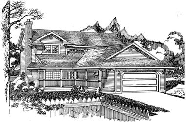3-Bedroom, 1908 Sq Ft Traditional House Plan - 167-1155 - Front Exterior