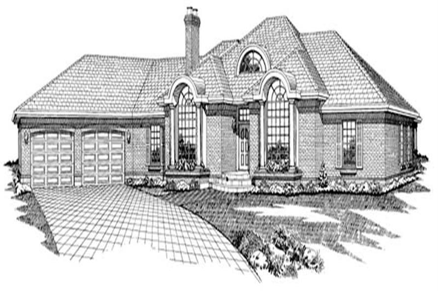 4-Bedroom, 2959 Sq Ft Contemporary House Plan - 167-1159 - Front Exterior