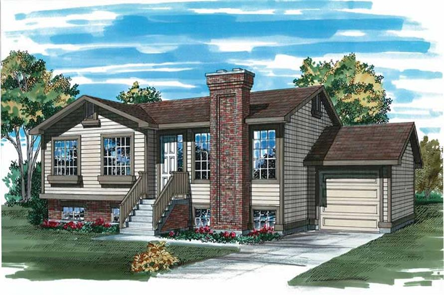 3-Bedroom, 1040 Sq Ft Small House Plans - 167-1161 - Main Exterior