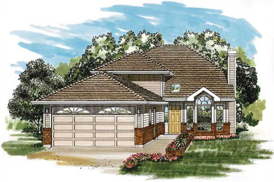 3-Bedroom, 1184 Sq Ft Small House Plans - 167-1162 - Main Exterior