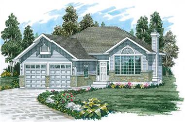 3-Bedroom, 1204 Sq Ft Ranch Home Plan - 167-1163 - Main Exterior