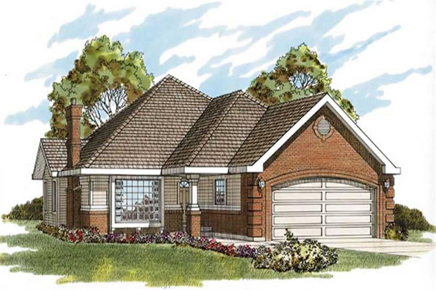 2-Bedroom, 1336 Sq Ft Ranch Home Plan - 167-1164 - Main Exterior