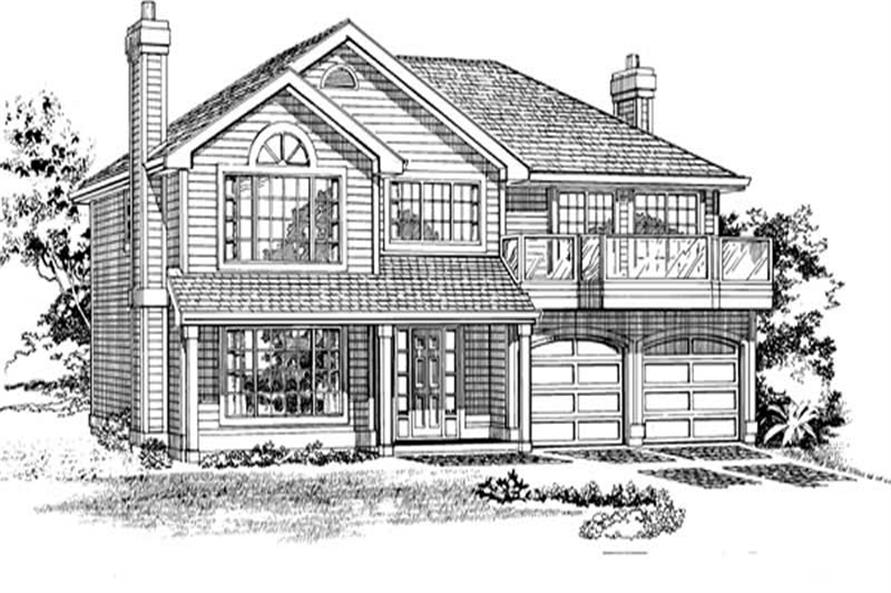 Main image for house plan # 7156