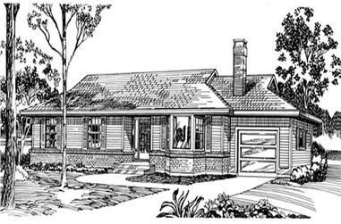 3-Bedroom, 1332 Sq Ft Ranch House Plan - 167-1168 - Front Exterior